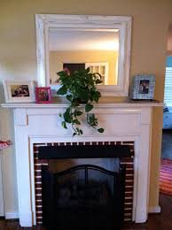 fireplace before painting hearth