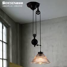 pulley lighting. vintage industrial rh loft2 pulley pendant light edison bulb lamp mirror lifting fixture bar home decoration lighting