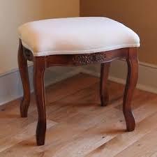 vanity bench seat. Exellent Seat Image Is Loading WoodVanityStoolOttomanCarvedUpholsteredFootstool Bench Throughout Vanity Bench Seat