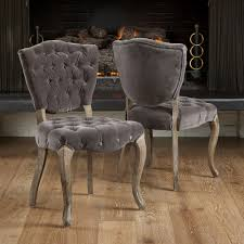 christopher knight chairs contemporary gray tufted dining chair inspirational throughout 4