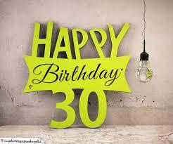 Holzausschnitt Happy Birthday 30 Geburtstag Spruch