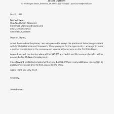 Offer Letter Acceptance Mail Format Job Approval Letter Accept A Offer With Sample Acceptance
