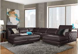 Sofia Vergara Sorrento Black Cherry 5 Pc Sectional Living Room
