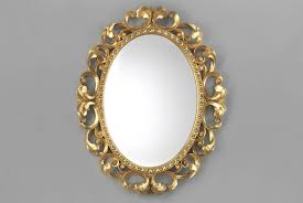 mirror frame. Oval Mirror \u2013 Hand-carved Gold Wood Frame