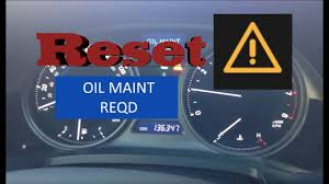 Low Engine Oil Level Warning Light Lexus How To Reset Oil Maintenance Required Light In Lexus Is250 Is350 2006 2014