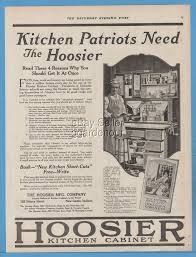 1918 Hoosier Mfg Co New Castle Indiana Kitchen cabinets WWI ...