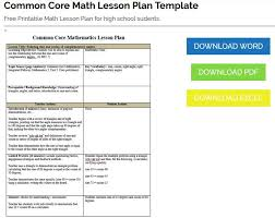 downloadable lesson plan templates common core lesson plan template tomu co