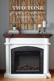 two tone fireplace makeover lovegrowswild com