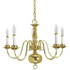 gorgeous polished brass chandelier at crown lighting traditional 5 light williamsburg style