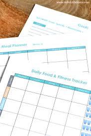 Daily Food Planner Free Printable Weekly Menu Plan Daily Meal Planner Template More
