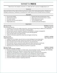 Delivery Truck Driver Resume Sample Best Of Cdl Truck Driver Resume Resume For Truck Driver Delivery Driver
