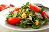 arugula  fresh corn and tomato salad