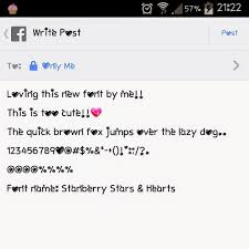 Cute Fonts For Android My Cute Fonts Stanberry Stars Hearts Font Android Only