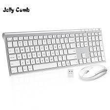 jelly comb notebook rechargeable mouse wireless for microsoft smart tv laptop pc optical silent click portable mice
