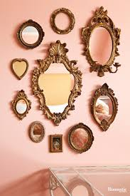 Mirror grouping on wall Wall Decor Hang Grouping Of Intricately Framed Mirrors Of Varying Shapes And Sizes In Place Of Artwork In Hallways Along Staircases Or In Your Entry Pinterest Decorate Your Home With Mirrors Romantic Wall Decor Framed Or Not