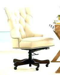 tufted desk chair white office work smart leather canada chai