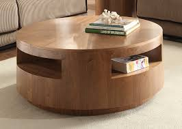 contemporary round coffee table wood