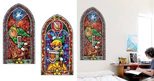 zelda stained glass wall decal