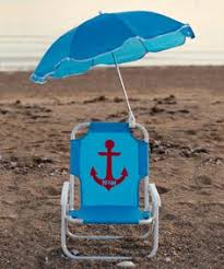 personalized beach chairs. Blue Anchor Personalized Kid\u0027s Beach Chair \u0026 Umbrella Chairs