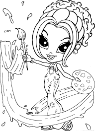 Small Picture Lisa frank coloring pages painter girl ColoringStar