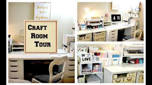 Office craftroom tour Basement Craft Room Tour Youtube Craft Room Tour 2018 Organization Ideas And How To Store Your