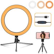 Desk Ring Light Amazon Led Ring Light With Tripod Stand Desk Makeup Light With Cell Phone Holder 10 Inch Dimmable 3 Light Modes 10 Brightness For Streaming Youtube Video