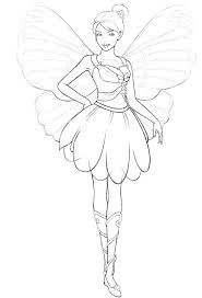 Fairy Princess Coloring Pages Fairy Princess Coloring Page Free