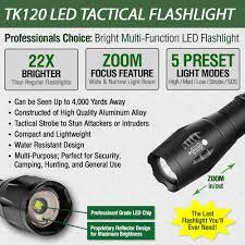 Strobe Light Flashlight Tk120 Led Tactical Flashlight With Strobe