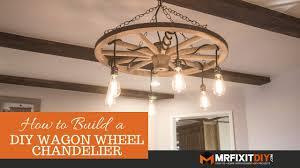 diy wagon wheel chandelier