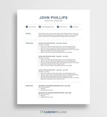 Ats Friendly Resume Template Free Word Resume Templates