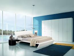 Modern Bedroom Bed White Modern Bedroom Set W Platform Bed Lights Nightstands