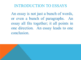 prose essays ppt video online  an essay all fits together it all points in one direction an essay leads to one conclusion