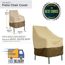 high back patio chair cover stackable