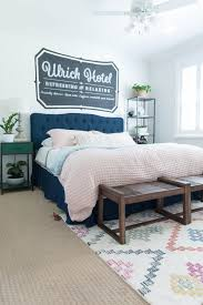 guest bedroom ideas. Wonderful Bedroom AFTER U2014 Thanks To FrogTape I Was Able Achieve Sharp Paint Lines On The  U201cUlrich Brick Muralu201d Plus Throughout Room When We Painted Over Beige And Guest Bedroom Ideas D