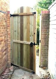 wood fence gate and design simple garden wooden plan ideas double best hinges