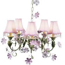 pink green leaf flower 5 arm chandelier optional pink pearl flower shades