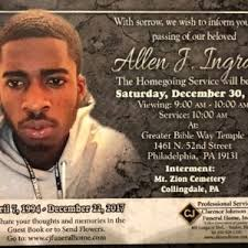 Allen Ingram, 23 - Philadelphia Obituary Project