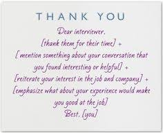 After Interview Thank You Letter Sample 49 Best Job Interview Thank You Note Examples And Wording Images