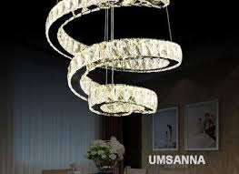 led modern crystal chandeliers dimmable spiral chandelier lights