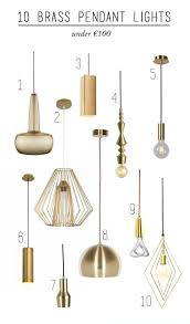 brass lighting fixtures. 10 Brass Pendant Lights Under \u20ac100 Lighting Fixtures G