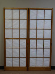 Japanese shoji doors Paper Lot 1237 Two Japanese Shoji Doors Apartment Therapy Two Japanese Shoji Doors