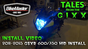 Hid Lights For Gsxr 600 2011 2015 Suzuki Gsxr 600 Hid Kit Install And Gixxer Boy Pilot Led Install