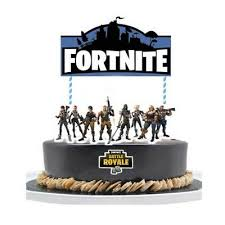 Fortnite Gaming Cupcake Picks Birthday Cake Topper Party Supplies