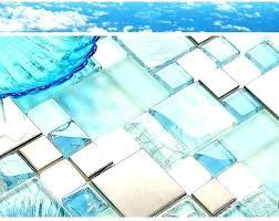 sea glass kitchen tiles mirror tile mosaic green backsplash home depot