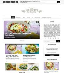 Food And Drink Blogger Templates 2018 Free Download