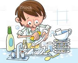 boy washing dishes clipart. Perfect Clipart Man Washes Dishes Stock Vector Art 512883100  IStock Png Freeuse Download Intended Boy Washing Clipart