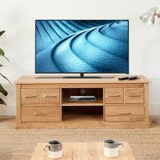 Stunning baumhaus mobel Solid Oak The Wooden Furniture Store Baumhaus Mobel Oak Widescreen Television Cabinet cor09b