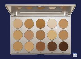 ping kryolan professional make up hd micro foundation cream palette 15 colors