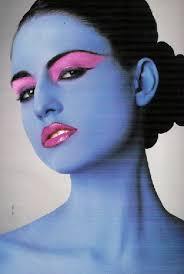 pale blue gothic makeup foundation