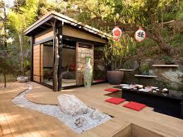 Asian influence outdoor decor